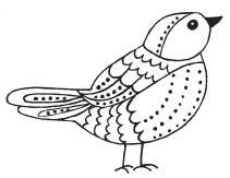 Savvy Stamps Ornate Bird 1613e