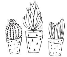 Savvy Stamps Cactus Trio Pots 1618f