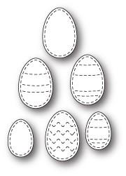 SALE - Stitched Egg Medley craft die (1716)