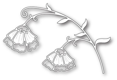 Poppystamps Sweet Pea Flowers (1833)
