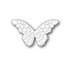 sale - poppystamps embossed heart butterfly 1989