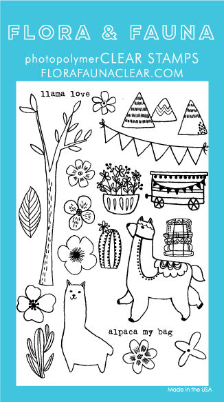 Flora and Fauna Llama Love Clear Set  20168