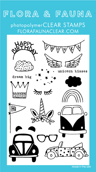 SALE - Flora and Fauna Love Bug Dressup Clear Stamp Set