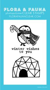 Flora and Fauna Mini Penguin Candy Cane Stamp Set 20203