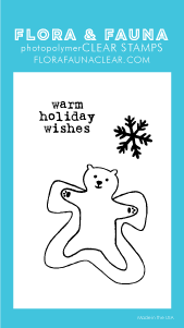 Flora and Fauna Mini Polar Snow Angel Clear Stamp Set 20208