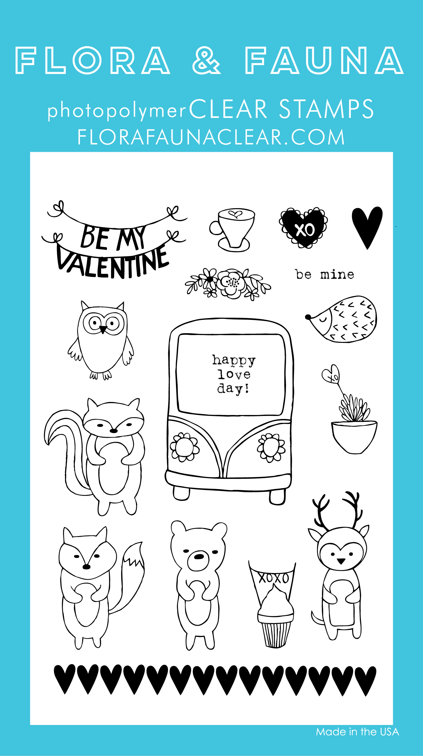 Flora and Fauna Critter Valentine Clear Set 20216