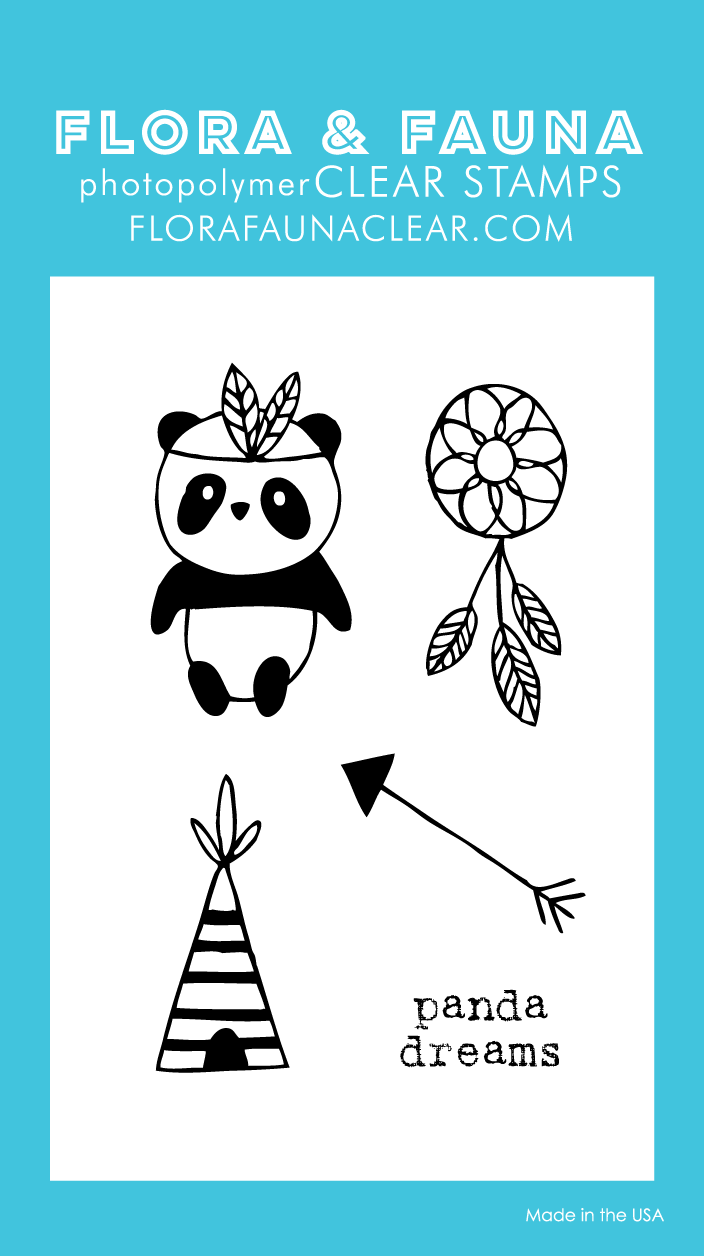 Flora and Fauna Mini Panda Teepee Clear Set 20220