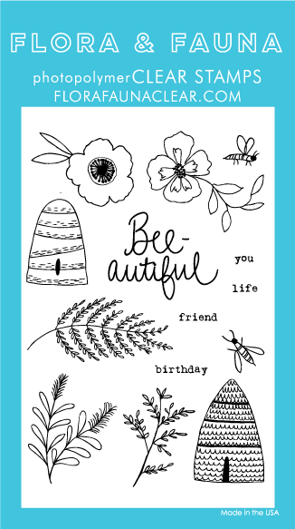 Flora and Fauna BEE BLOSSOM stamp set 20226