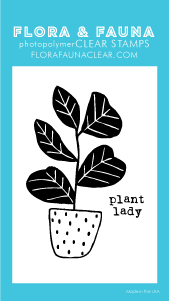 Flora and Fauna Mini Plant Lady Clear Stamp Set