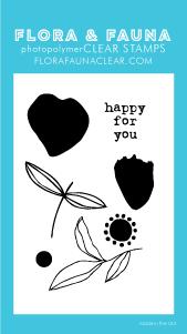 Flora and Fauna Mini Brush Petal Clear Stamp Set