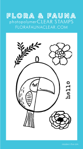 Flora and Fauna Mini Toucan Clear Stamp Set 20257