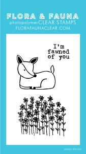 Flora and Fauna Mini Fawned of You Clear Stamp Set 20259