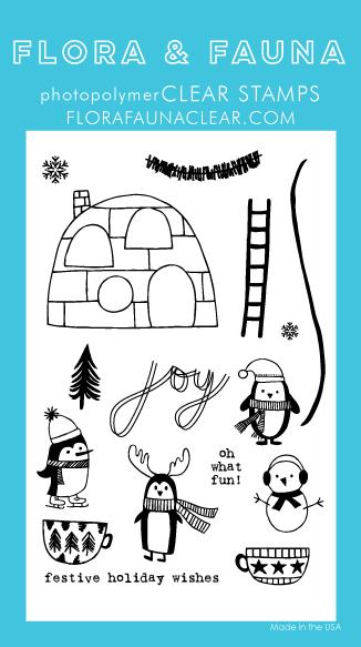 Flora and Fauna Winter Penguin Party Set 20265