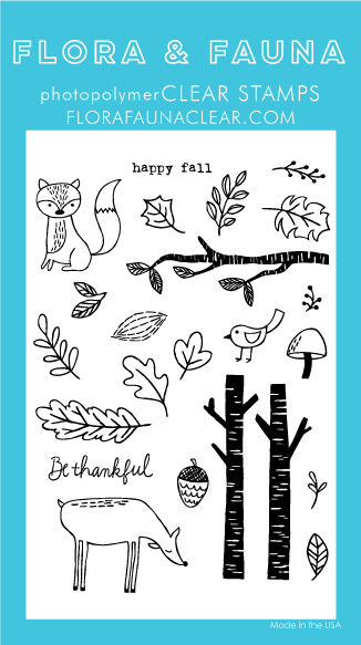 Flora and Fauna Fall Forest Clear Set 20281