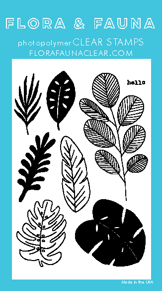 Flora and Fauna Tropical Leaves 20305