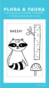 Flora and Fauna Mini Hello Raccoon 20310