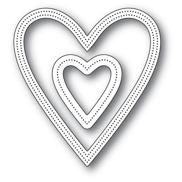 Poppy Stamps Shaker Heart 2157