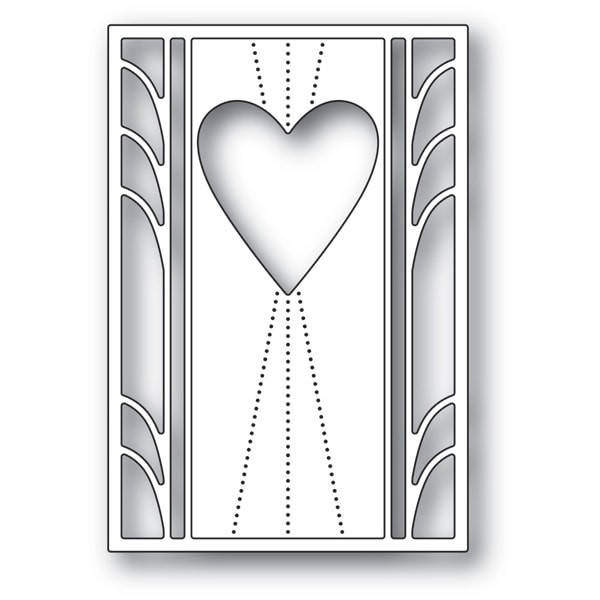 Poppy Stamps Deco Marquis Heart 2163