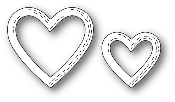 Poppy Stamps Whittle Heart Frames 2164