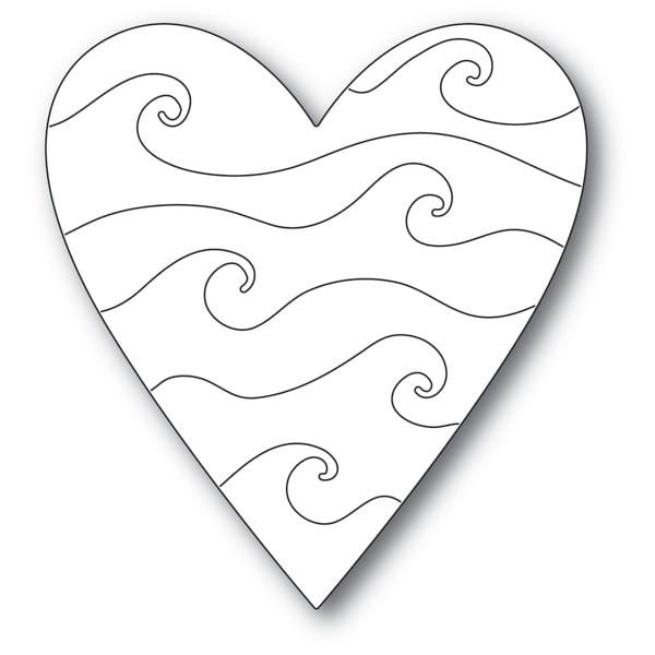 Poppy Stamps Wavy Heart 2169