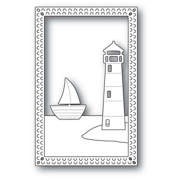 Poppy Stamps Lighthouse Frame 2171