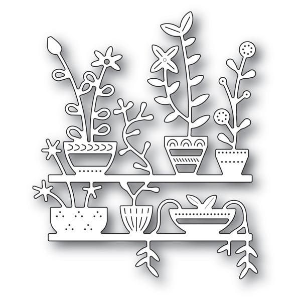 Poppy Stamps Spring Pots Shelves 2174