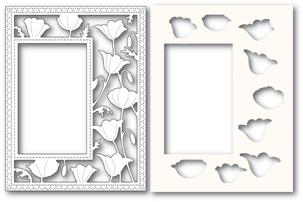 Poppy Stamps Garden Poppy Sidekick Frame and Stencil 2179