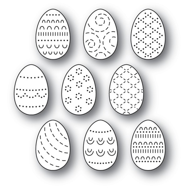 SALE - Poppy Stamps Folk Decorated Eggs 2180