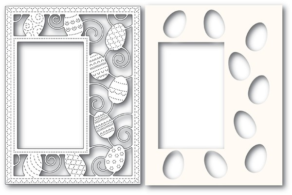 Poppy Stamps Decorated Egg Sidekick Frame and Stencil 2182