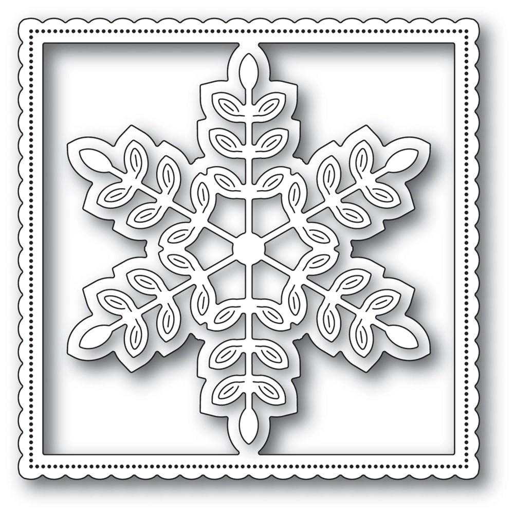 Poppystamps Leafy Snowflake Frame 2255