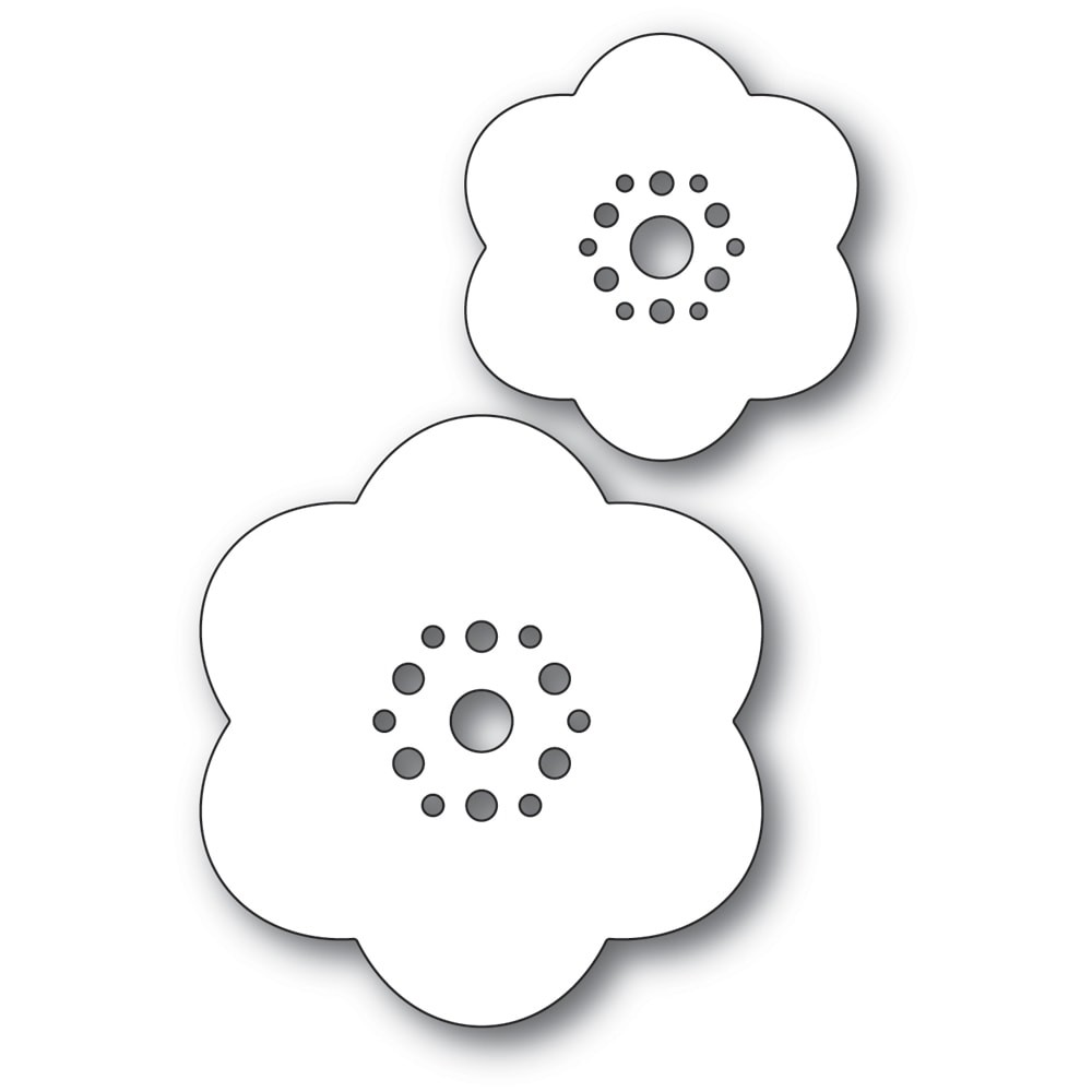 Poppystamps Rounded Bloom Flowers 2337