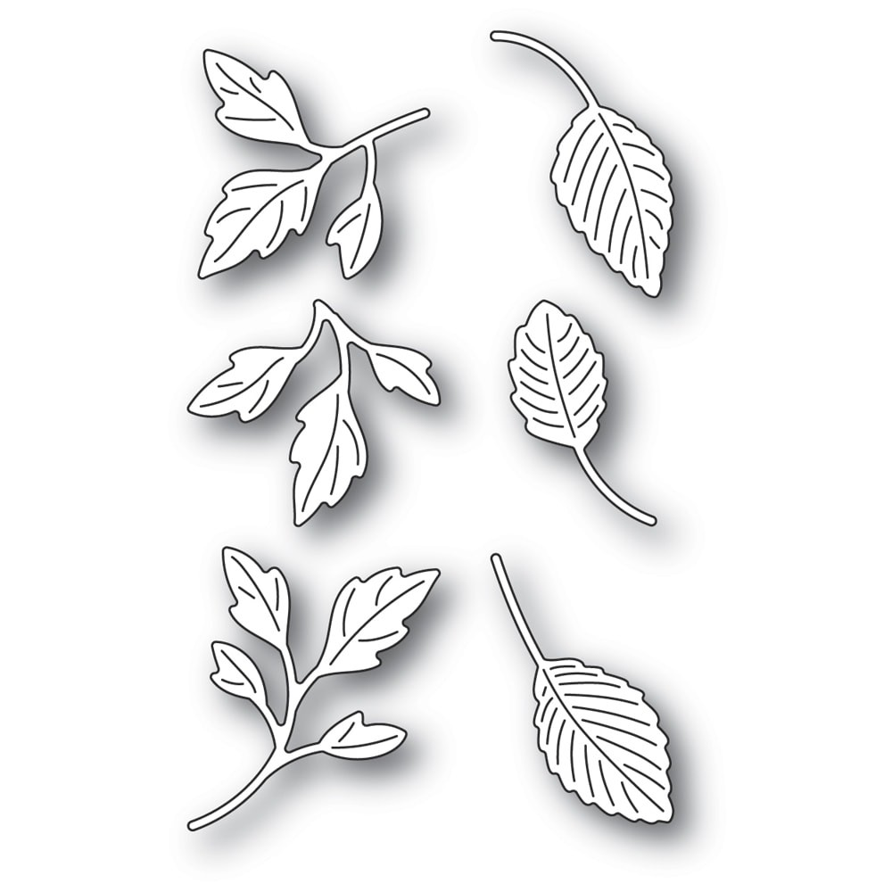Poppystamps Orchard Leaves 2343