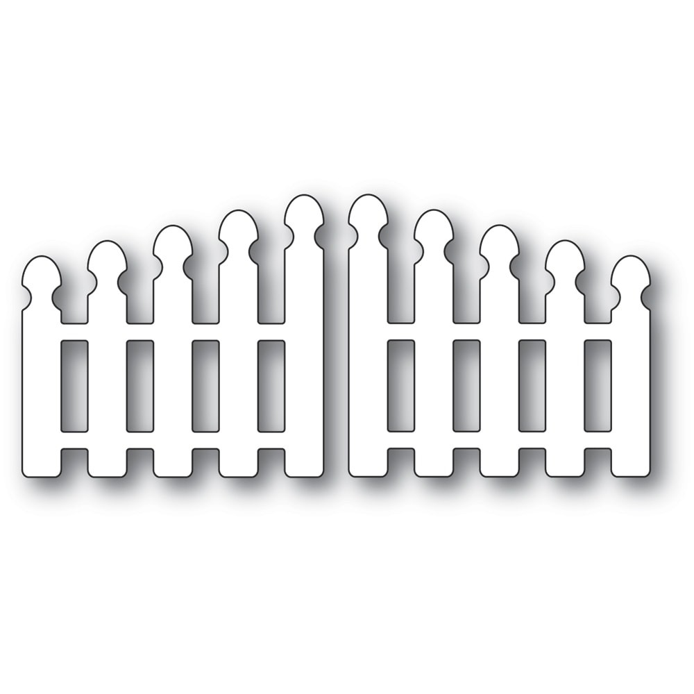 Poppystamps Pointy Picket Double Gate 2349