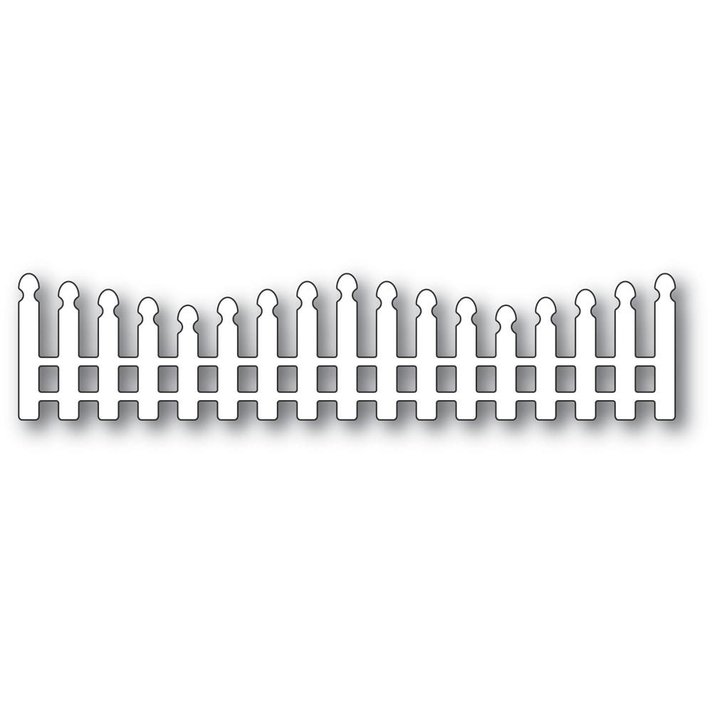 Poppystamps Wavy Long Picket Fence 2352