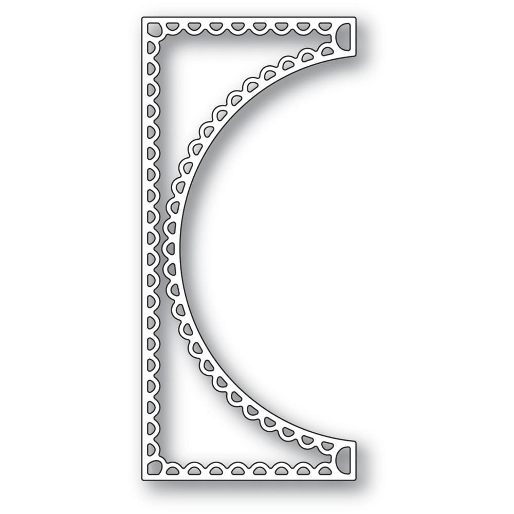 Poppystamps Scallop Small Curve Border 2360