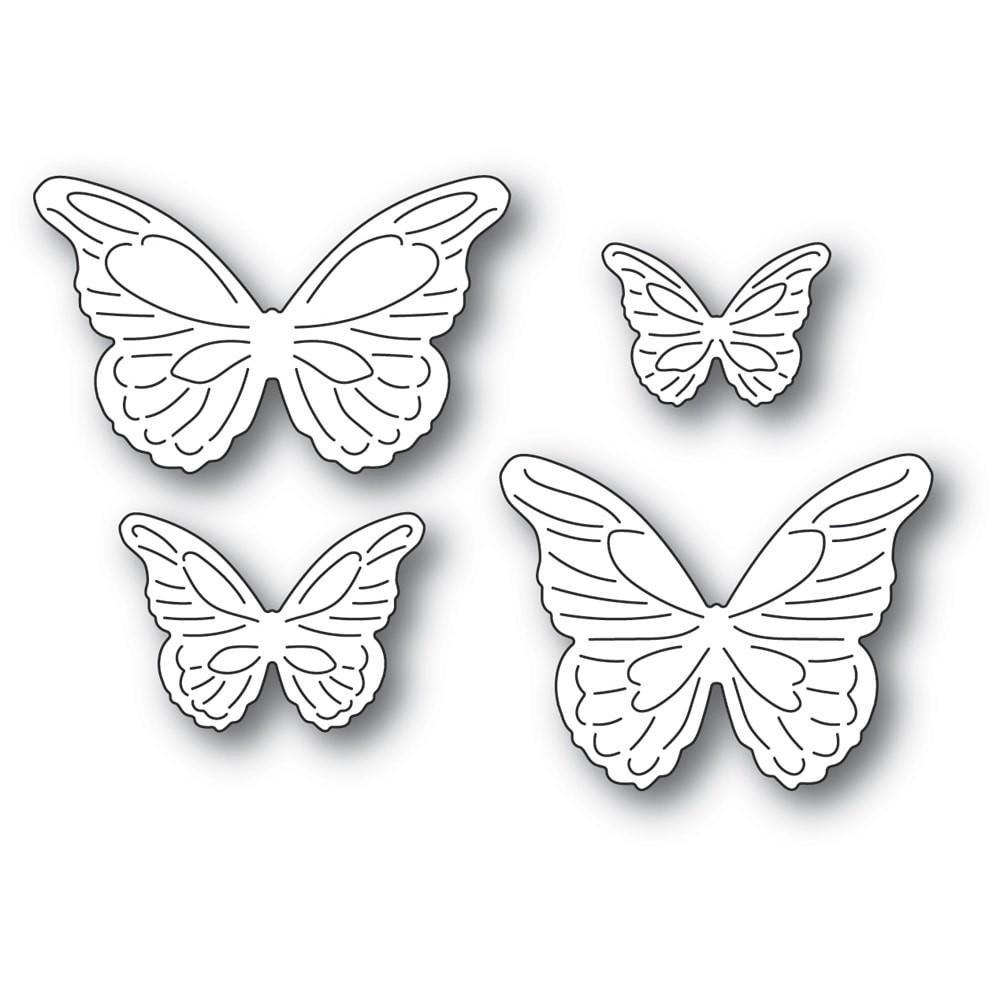 Poppystamps Intricate Cut Butterflies 2367