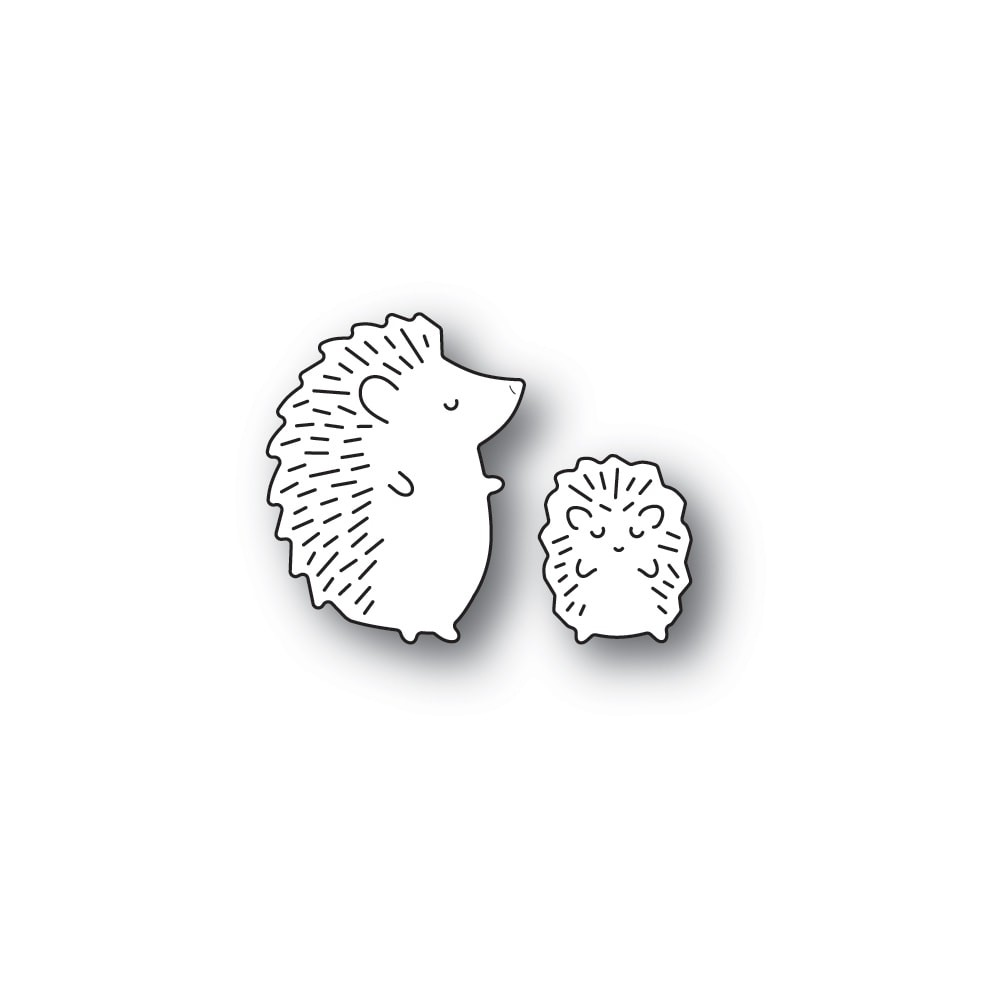 Poppystamps Whittle Hedgehog Duo 2373