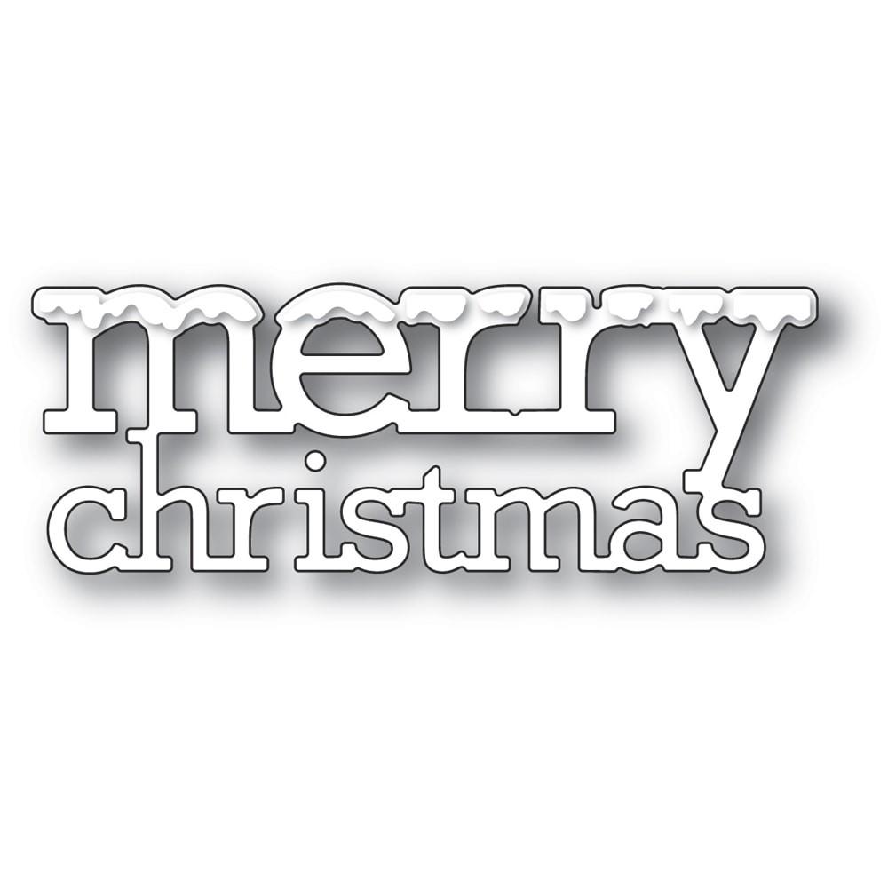 Poppystamps Snowy Merry Christmas Die 2387