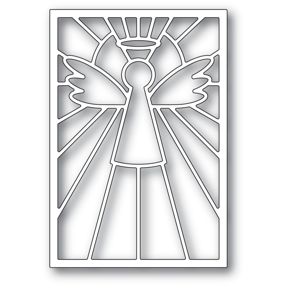 Poppystamps Stained Glass Angel Die 2388