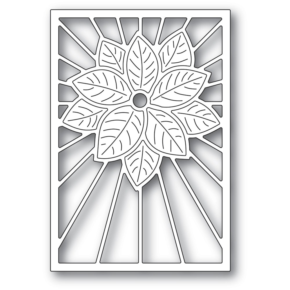 Poppystamps Stained Glass Poinsettia 2391