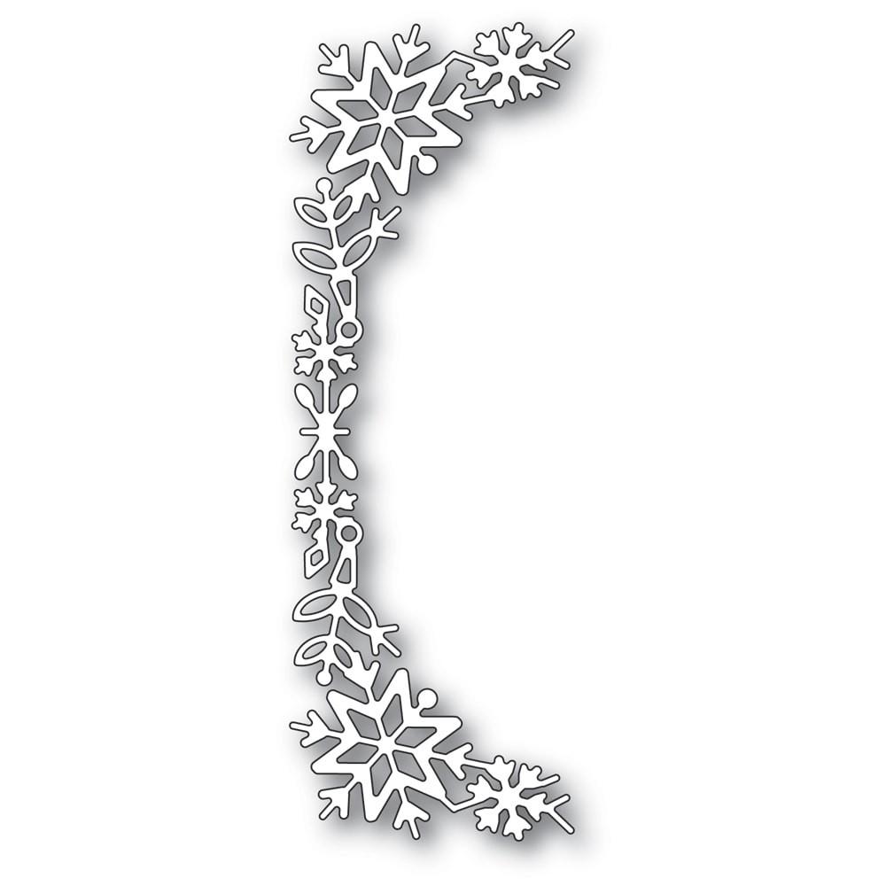Poppystamps Snowflake Tall Curve Border 2400