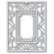 poppystamps Geometric Deco Plate 2413