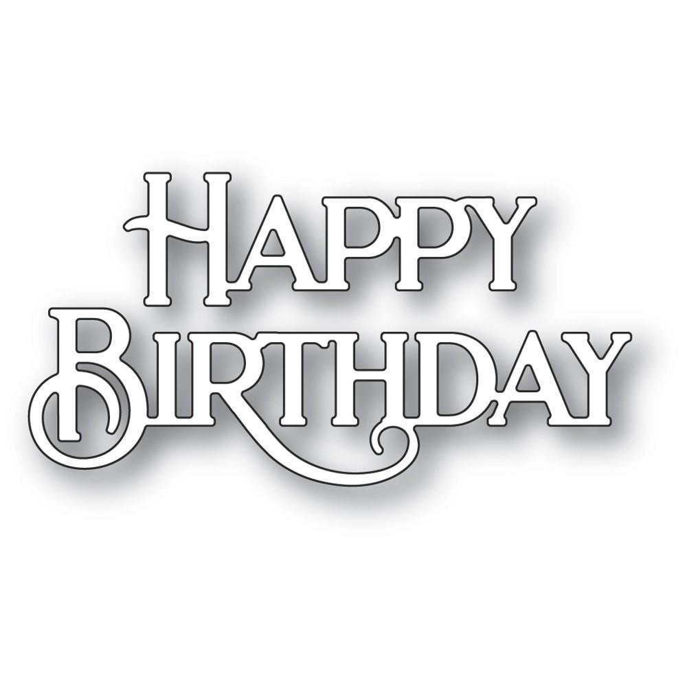 Poppystamps Happy Birthday Poe Script 2437