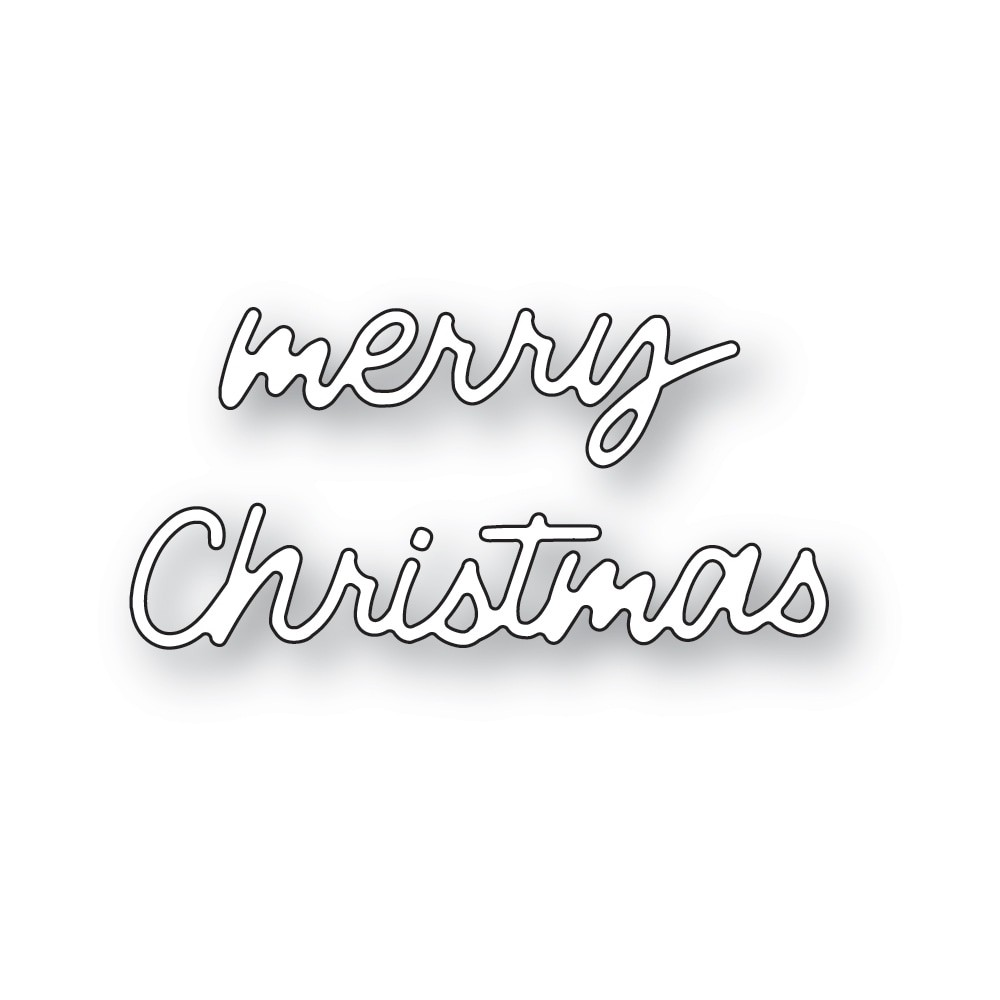 poppystamps Small Freestyle Merry Christmas 2475