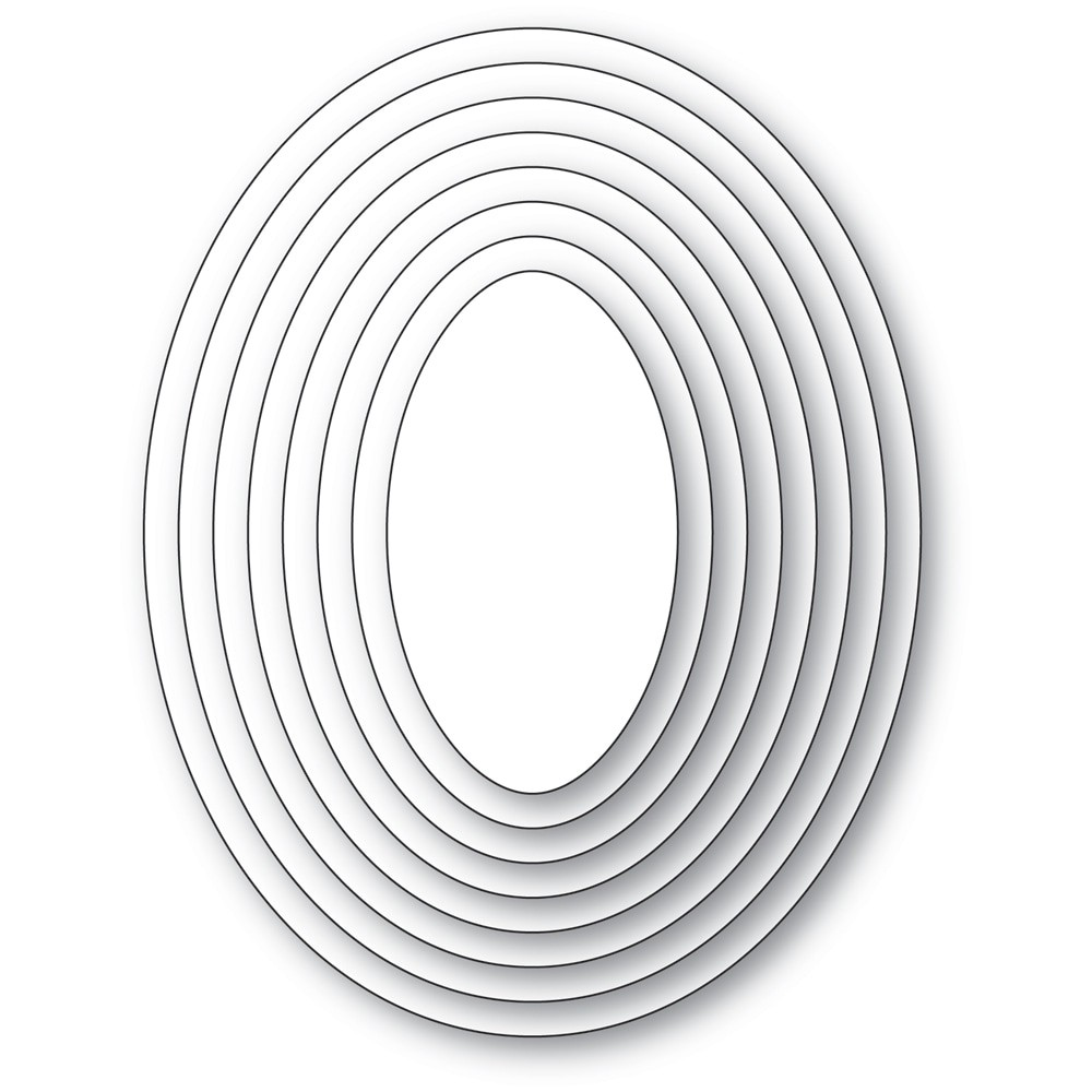 poppystamps Basic Ovals Set 2477