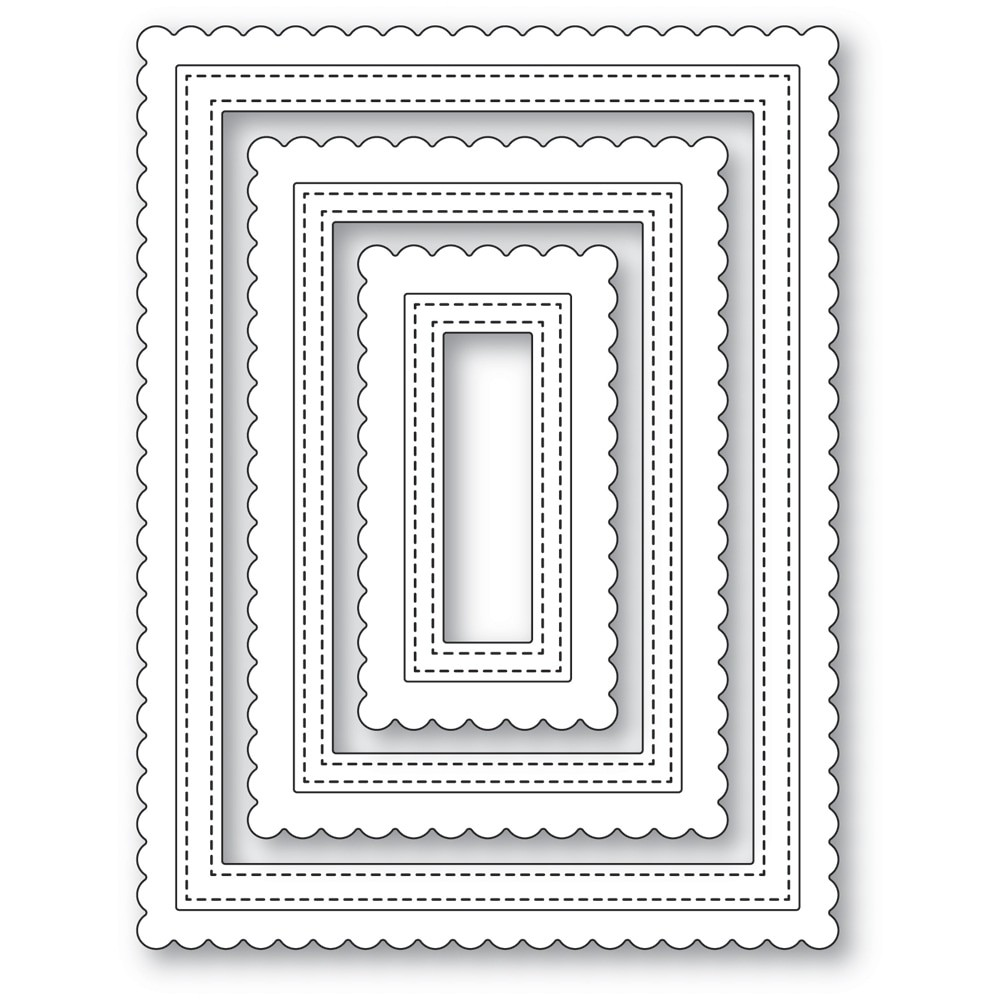 poppystamps Scalloped Stitch Frames 2478