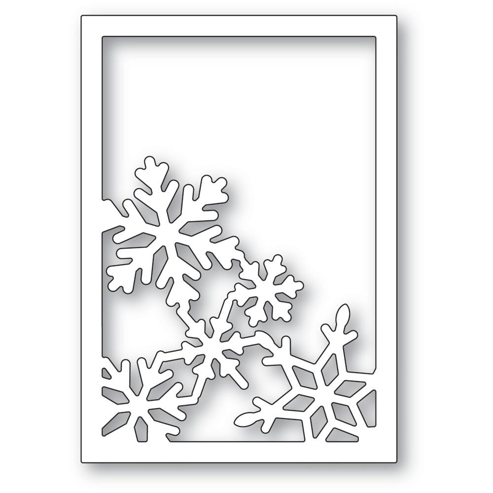 poppystamps Snowflake Corner Frame 2479