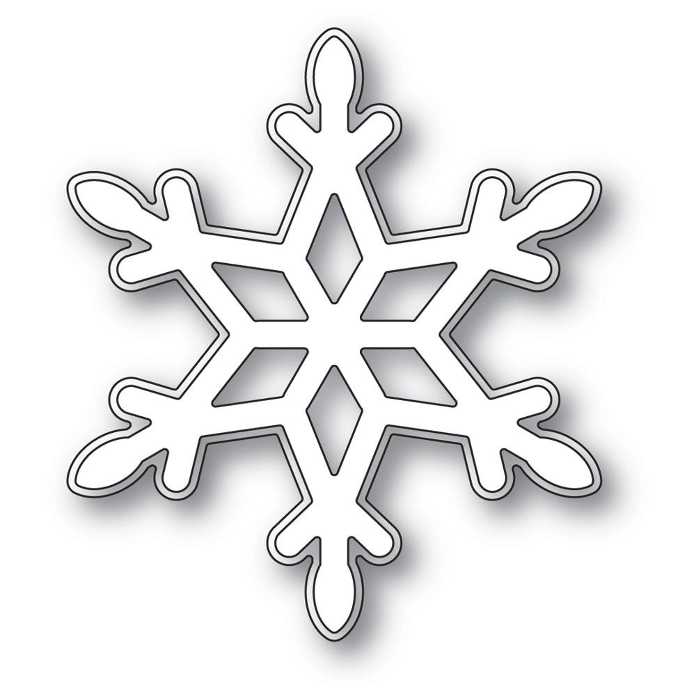 poppystamps Diamond Snowflake 2482