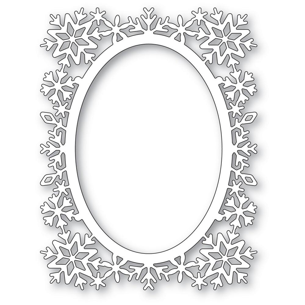 poppystamps Snowflake Oval Frame 2484