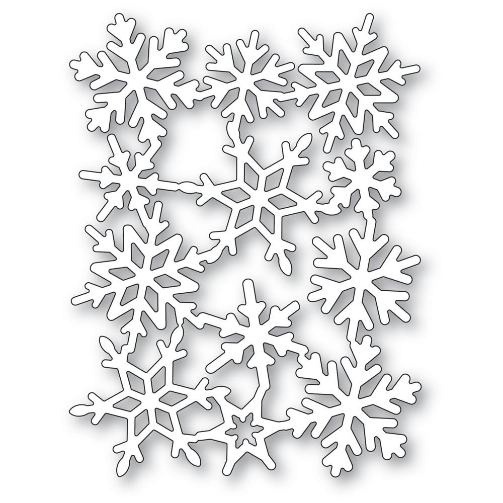 Poppystamps Snowflake Background 2489